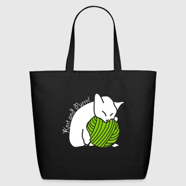 Knit and Purrl Relaxing - Eco-Friendly Cotton Tote