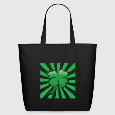 Four Leaf Clover Psychedelic Four Leaf Clover - Eco-Friendly Cotton Tote