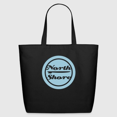north shore Hawaii surfboard - Eco-Friendly Cotton Tote
