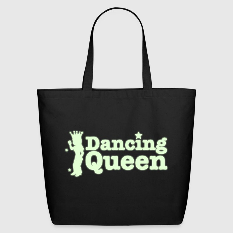Dancing Queen with dancing girl and crown - Eco-Friendly Cotton Tote