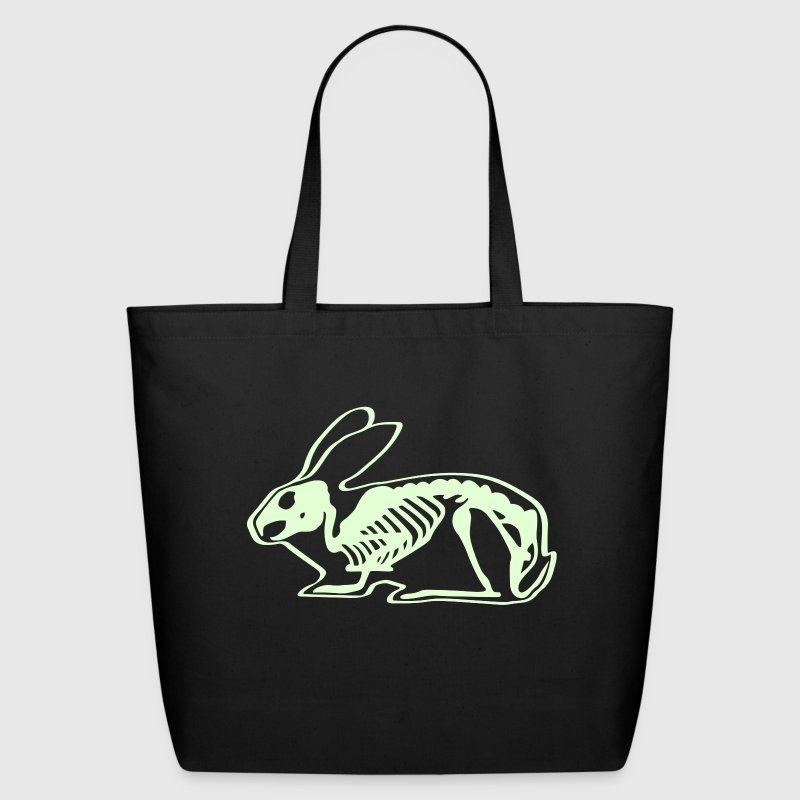 Ray X x-ray rabbit cony hare bunny bunnies long ear skeleton carcass bones roentgen death jack rabbit - Eco-Friendly Cotton Tote