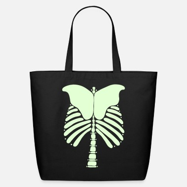Skeleton Back Vector Art - Eco-Friendly Tote Bag