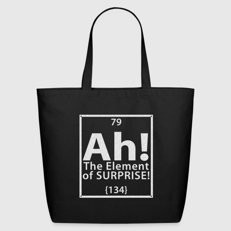 Ah! The Element of Surprise - Eco-Friendly Cotton Tote