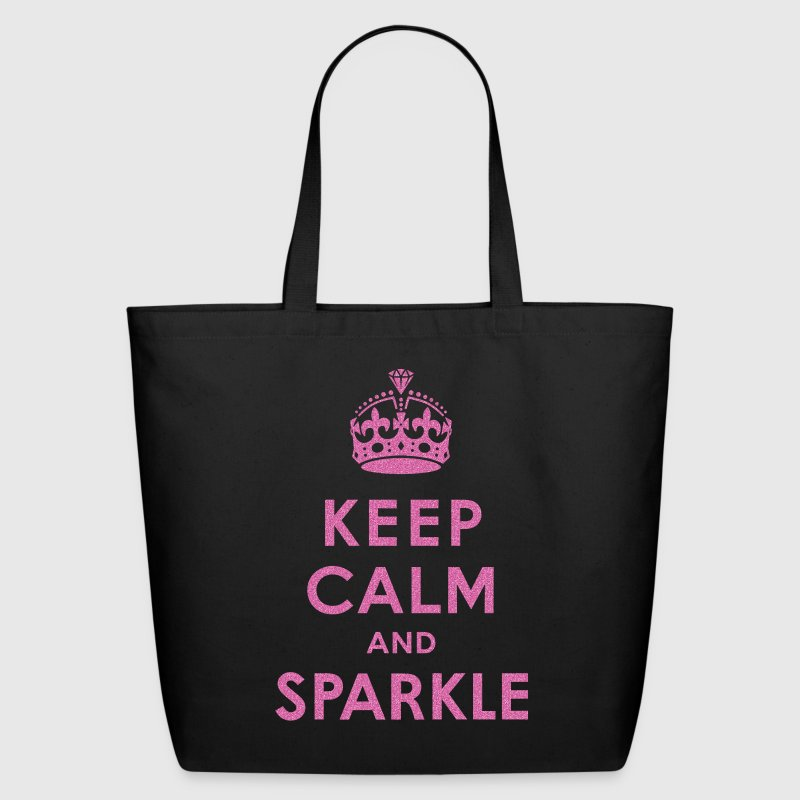 Keep Calm and Sparkle - Eco-Friendly Cotton Tote