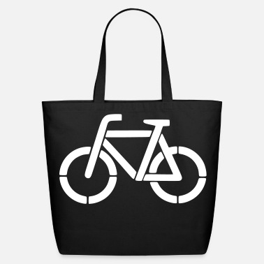 Stencil bicycle stencil - Eco-Friendly Tote Bag