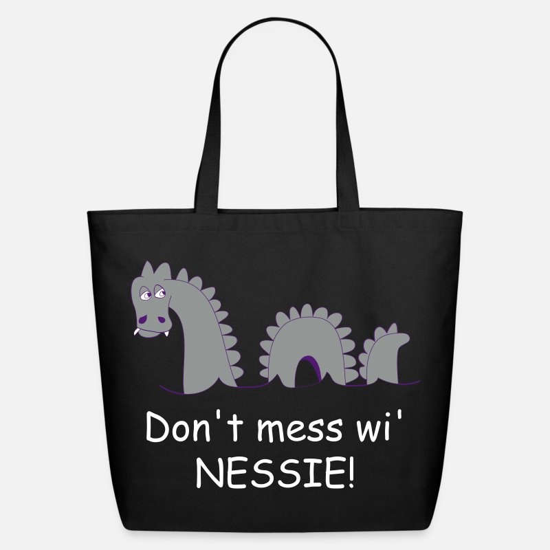Nessie Bags & backpacks - Loch Ness Monster, affectionately known as Nessie! - Eco-Friendly Tote Bag black