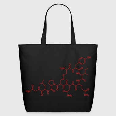 Oxytocin Molecule of Sex, Love, Orgasms - Eco-Friendly Cotton Tote