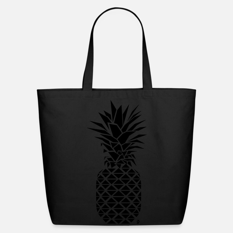 Spring Break Bags & backpacks - AD Geometric Pineapple - Eco-Friendly Tote Bag black