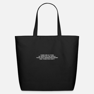 Humorous Sayings NERD HUMOR: Binary Humor - Eco-Friendly Cotton Tote
