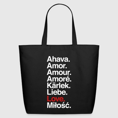 Love. Language. - Eco-Friendly Cotton Tote