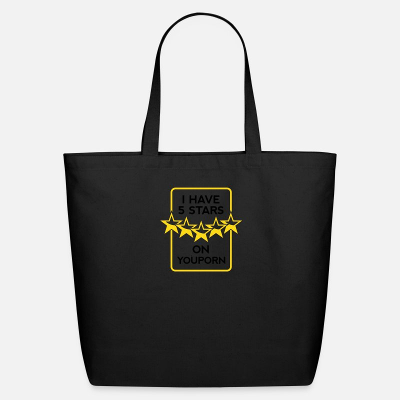 Cool Bags & backpacks - 5 Stars Porn 1 (2c)++ - Eco-Friendly Tote Bag black