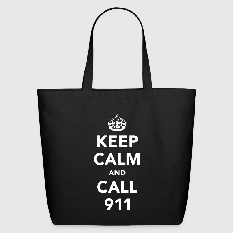 Keep Calm and Call 911 - Eco-Friendly Cotton Tote