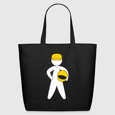 A Racer With Helmet - Eco-Friendly Cotton Tote