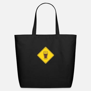 Road Sign Beer Road Sign - Eco-Friendly Cotton Tote