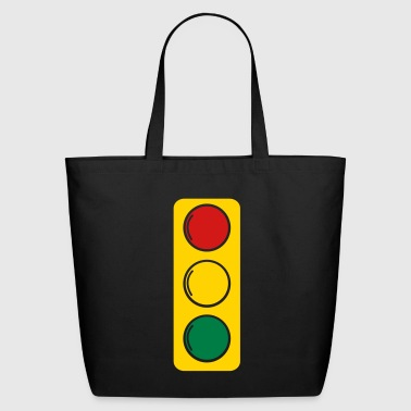 traffic lights red amber and green - Eco-Friendly Cotton Tote