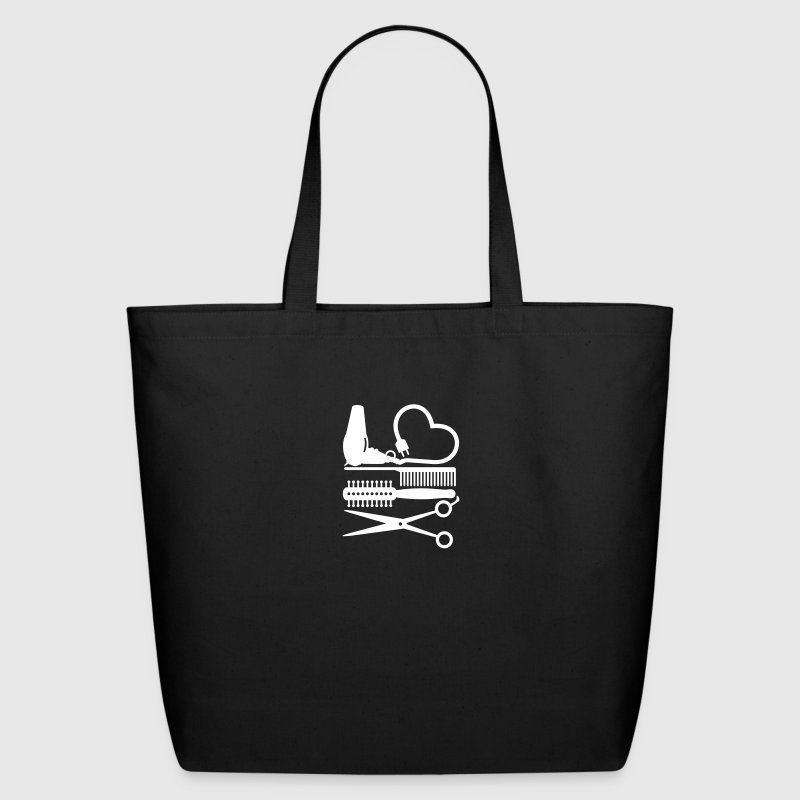 hair stylist's tools (1c) - Eco-Friendly Cotton Tote