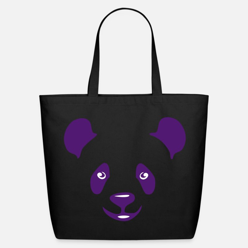 Face Bags & backpacks - panda teddy bear face cute animal save - Eco-Friendly Tote Bag black