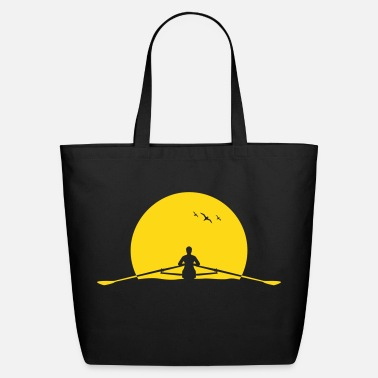 Boat rowing sunset row boat club sunrise - Eco-Friendly Cotton Tote