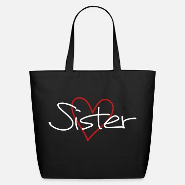Heart sister heart favorite sister gift - Eco-Friendly Cotton Tote