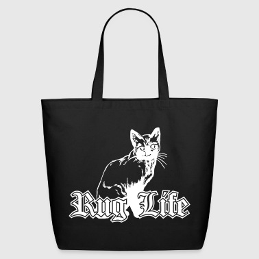 Rug Life - Gangsta Cat - Eco-Friendly Cotton Tote