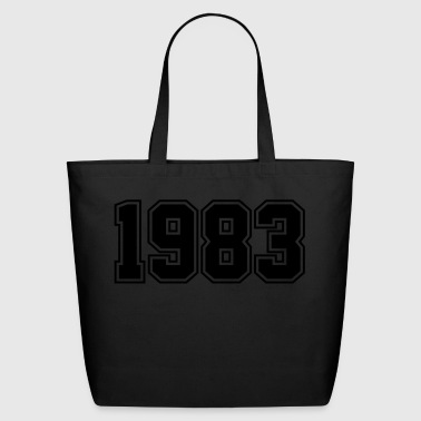 1983 | Year of Birth | Birth Year | Birthday - Eco-Friendly Cotton Tote