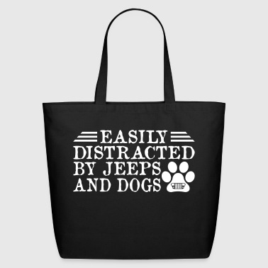 Distracted By Jeeps And Dogs - Eco-Friendly Cotton Tote