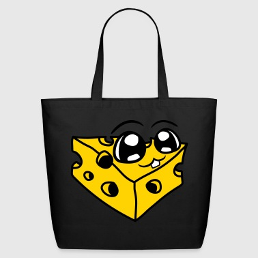 cute cute face alive cheese holes gauda comic cart - Eco-Friendly Cotton Tote