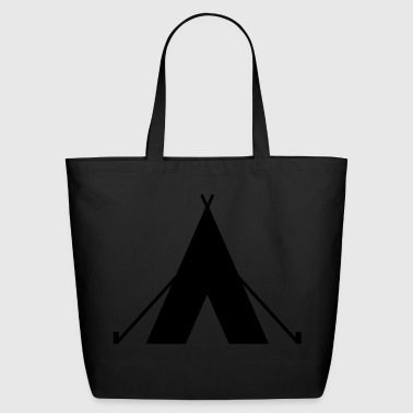 tent - camp - camping fire - Eco-Friendly Cotton Tote