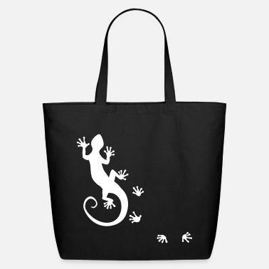 Bali running gecko - Eco-Friendly Cotton Tote