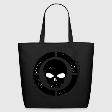 Grunge skull - Eco-Friendly Cotton Tote