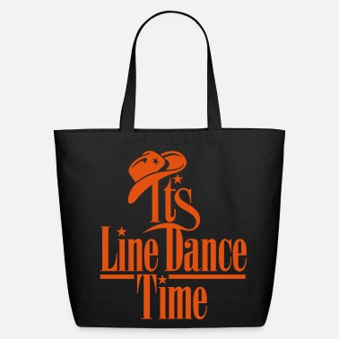 Country ITS LINE DANCE TIME, COWBOY HAT - Eco-Friendly Cotton Tote