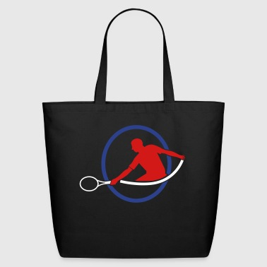 Hits tennis man hitting swing hit - Eco-Friendly Cotton Tote