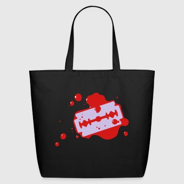 Razor Blade With Blood - Eco-Friendly Cotton Tote