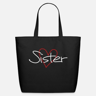 Sister sister heart favorite sister gift - Eco-Friendly Cotton Tote