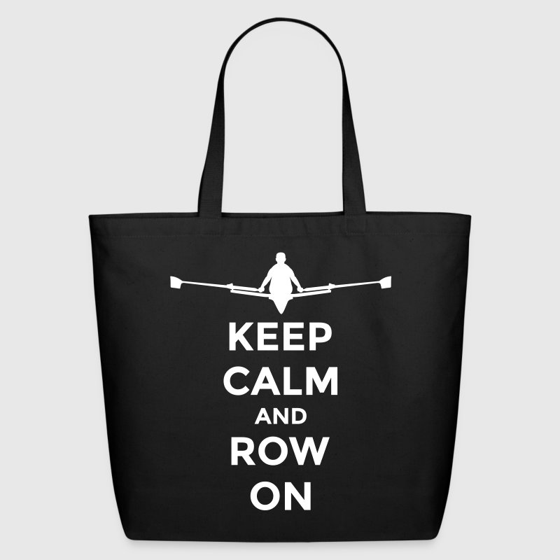 keep calm and row on club rowing Boot - Eco-Friendly Cotton Tote