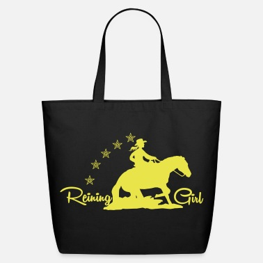 Western Riding Cowgirl - Western riding - Eco-Friendly Cotton Tote