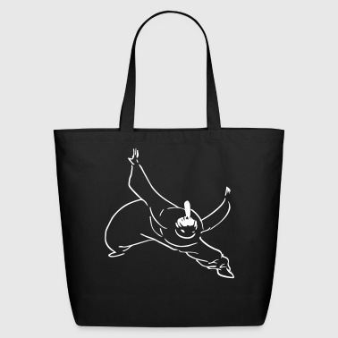 kung fu stance - Eco-Friendly Cotton Tote