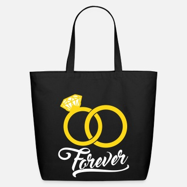 Wedding forever wedding rings - Eco-Friendly Cotton Tote