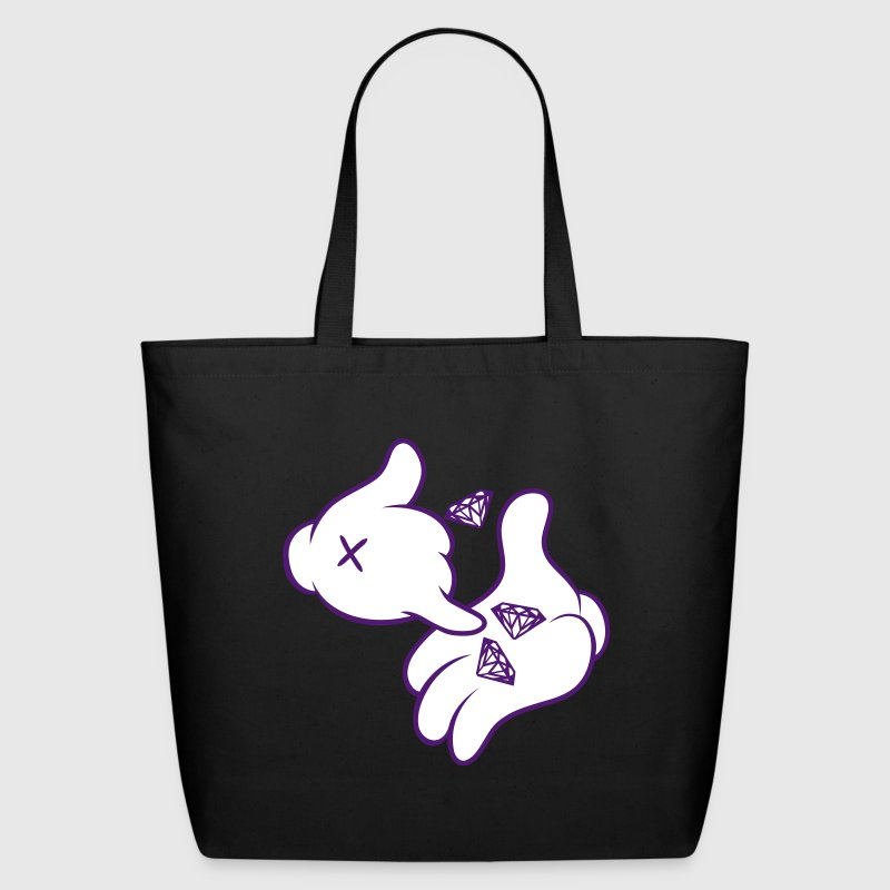 Diamond Cartoon Hands - Eco-Friendly Cotton Tote