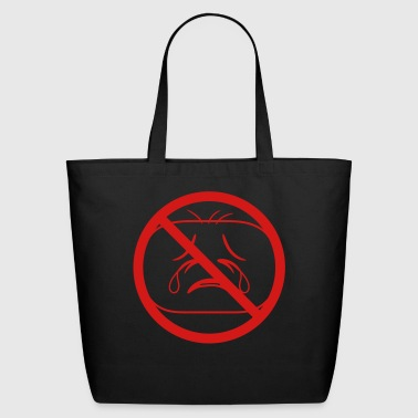 shield prohibited not allowed face head sad cry ho - Eco-Friendly Cotton Tote