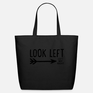 Rude look left - Eco-Friendly Cotton Tote