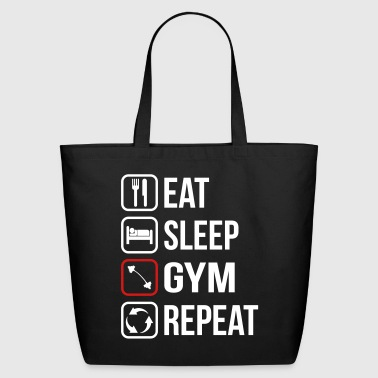 Funny Gym Eat Sleep Gym Repeat - Eco-Friendly Cotton Tote