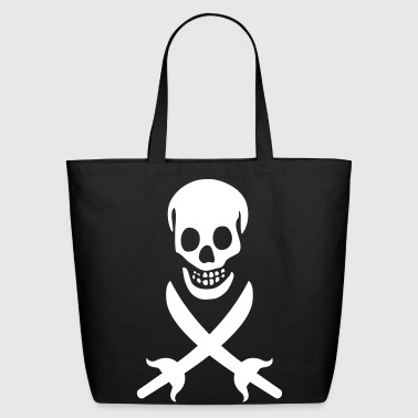 Pirate, Skull, Black Flag - Eco-Friendly Cotton Tote