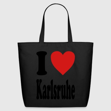 I love Karlsruhe (variable colors!) - Eco-Friendly Cotton Tote