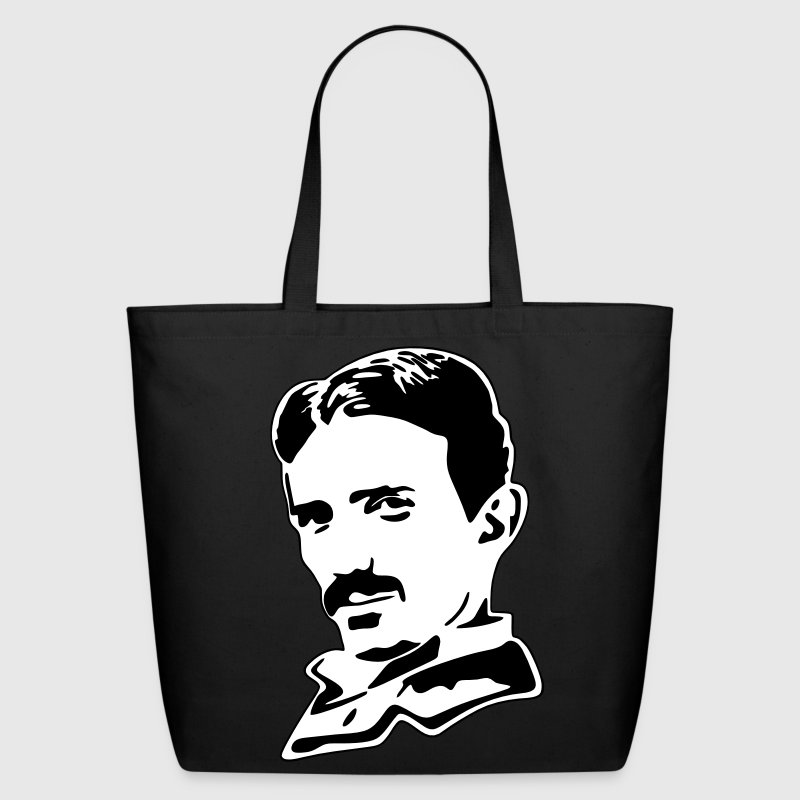 Vector Design-Nikola Tesla - Eco-Friendly Cotton Tote
