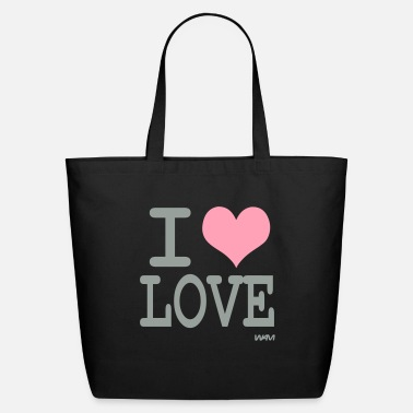 I Love i love love by wam - Eco-Friendly Cotton Tote