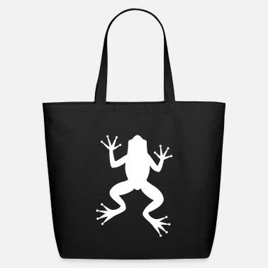 Tree Frog Frog Toad Tree Frog Silhouette - Eco-Friendly Cotton Tote