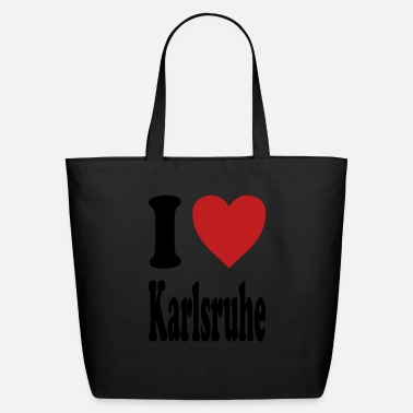 Karlsruhe I love Karlsruhe (variable colors!) - Eco-Friendly Cotton Tote