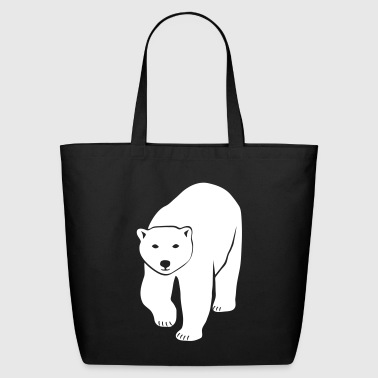polar bear ice black white penguin knut climate change stop global warming - Eco-Friendly Cotton Tote