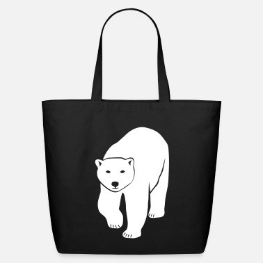 Black polar bear ice black white penguin knut climate change stop global warming - Eco-Friendly Cotton Tote